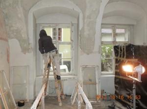Munka közben egy festő